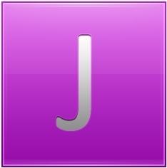 Letter J pink