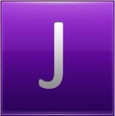 Letter J violet
