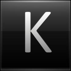 Letter K black