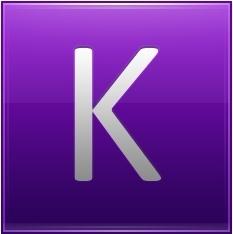 Letter K violet
