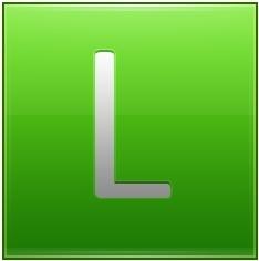 Letter L lg