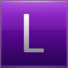 Letter L violet
