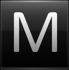 Letter M black