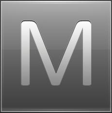 Letter M grey