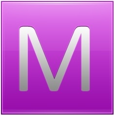Letter M pink