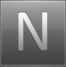 Letter N grey