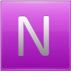 Letter N pink