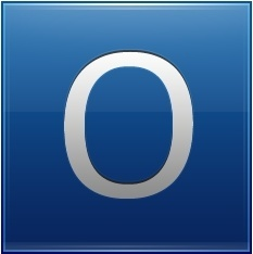 Letter O blue
