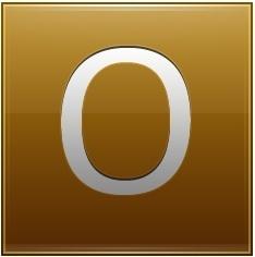 Letter O gold