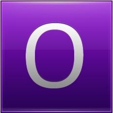 Letter O violet