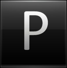 Letter P black