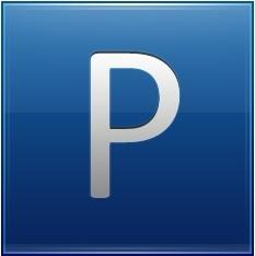 Letter P blue