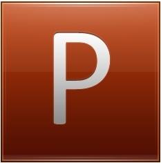 Letter P orange