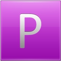 Letter P pink