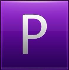 Letter P violet