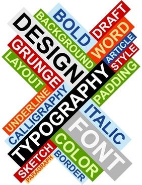 letter plate design 04 vector
