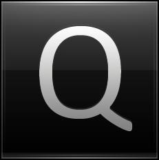 Letter Q black