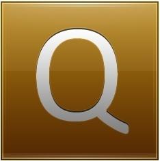 Letter Q gold