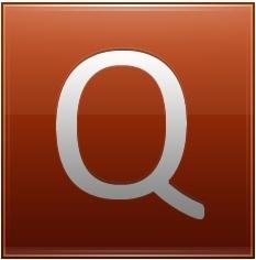 Letter Q orange