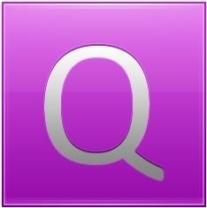 Letter Q pink