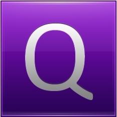 Letter Q violet