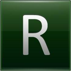 Letter R dg