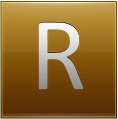 Letter R gold