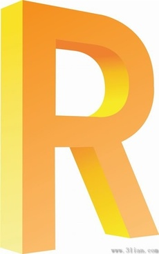 letter r icon vector