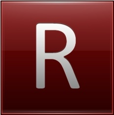 Letter R red