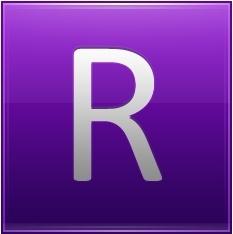 Letter R violet