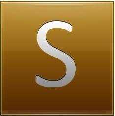 Letter S gold