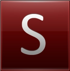 Letter S red