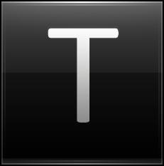 Letter T black