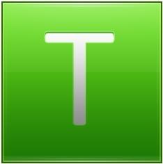 Letter T lg