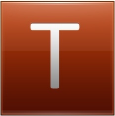Letter T orange