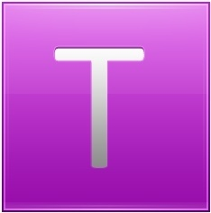 Letter T pink