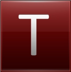 Letter T red