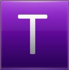 Letter T violet