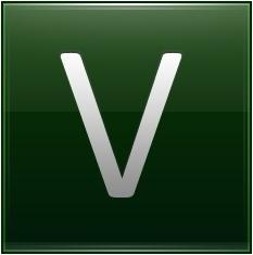Letter V dg