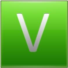 Letter V lg