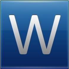 Letter W blue