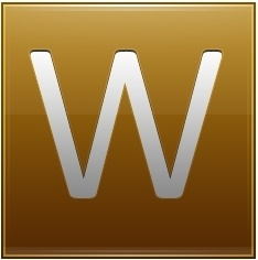 Letter W gold