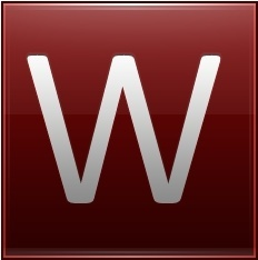 Letter W red