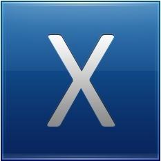 Letter X blue