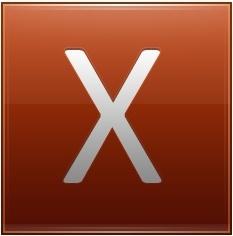 Letter X orange