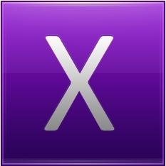 Letter X violet