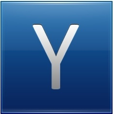 Letter Y blue
