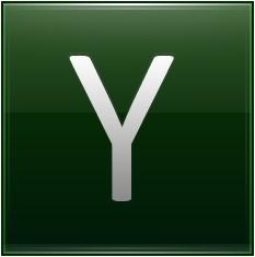 Letter Y dg