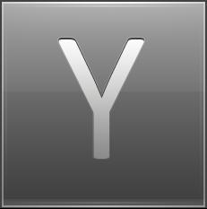 Letter Y grey