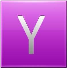 Letter Y pink